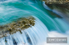 Waterfall in Johnston Canyon - North America, Canada, Alberta, Banff National Park, Johnston Canyon (Rocky Mountains) - digital