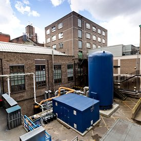 New heating and water system at Strathclyde University, Glasgow..2.5.19 ..FREE USE FOR VITAL ENERGI.More info from:..Gordon C...