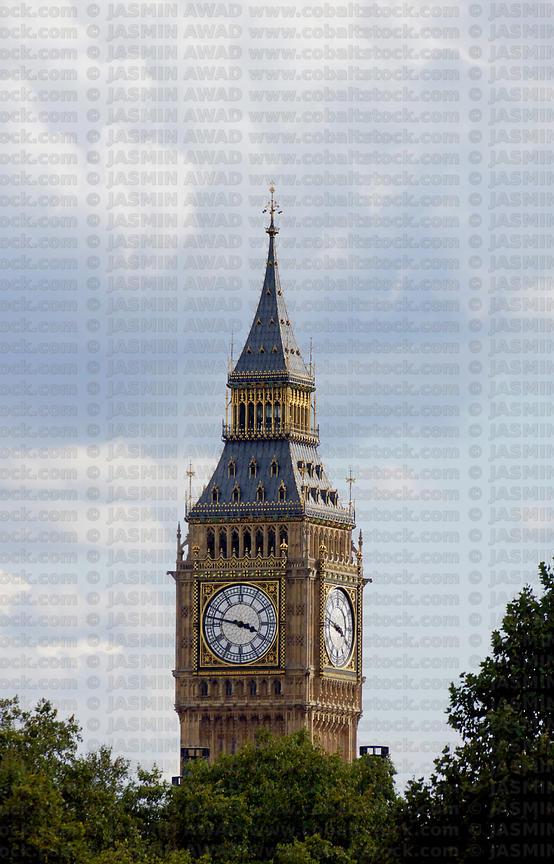 Big Ben clock towr with copy space