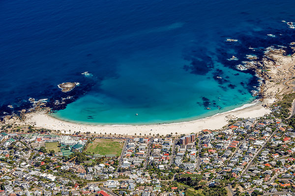 Camps Bay from Table Mountain, Cape Town, South Africa