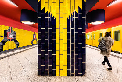 Lego space invaders, Richard Wagner Platz Station