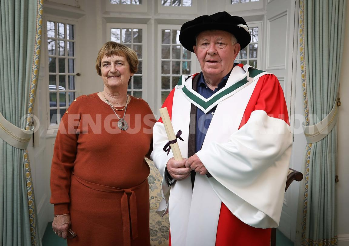 Honorary Conferring of Breandán Feiritéar at NUI Galway. Photograph by Aengus McMahon