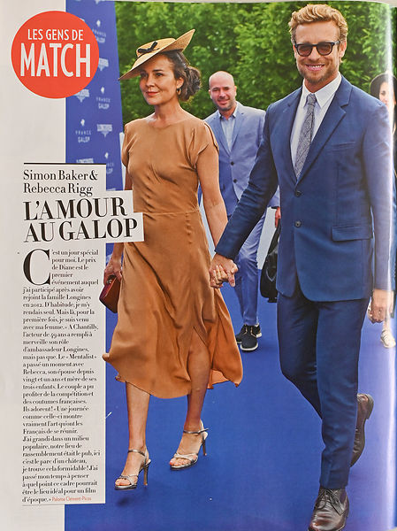Simon Baker and Rebecca Rigg, Paris Match