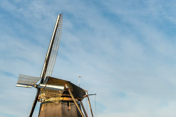 Blades and hood of Dutch windmill