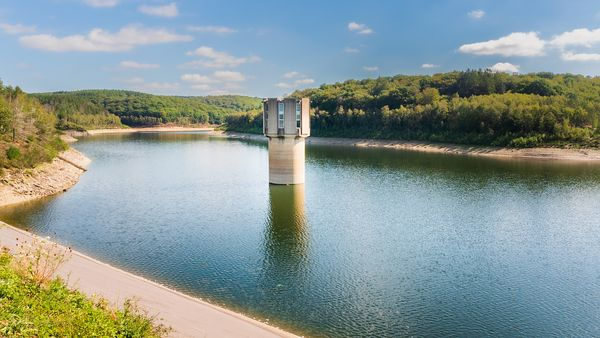 Water extraction tower at Wehebachtal reservoir