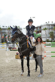 Oliva, Spain - 2020 March 13: Gold tour 1m45 during CSI Mediterranean Equestrian Spring Tour 3.(photo: 1clicphoto)