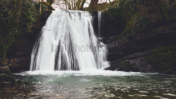 A waterfall at Janet's Foss near Malham in the Yorkshire Dales,
