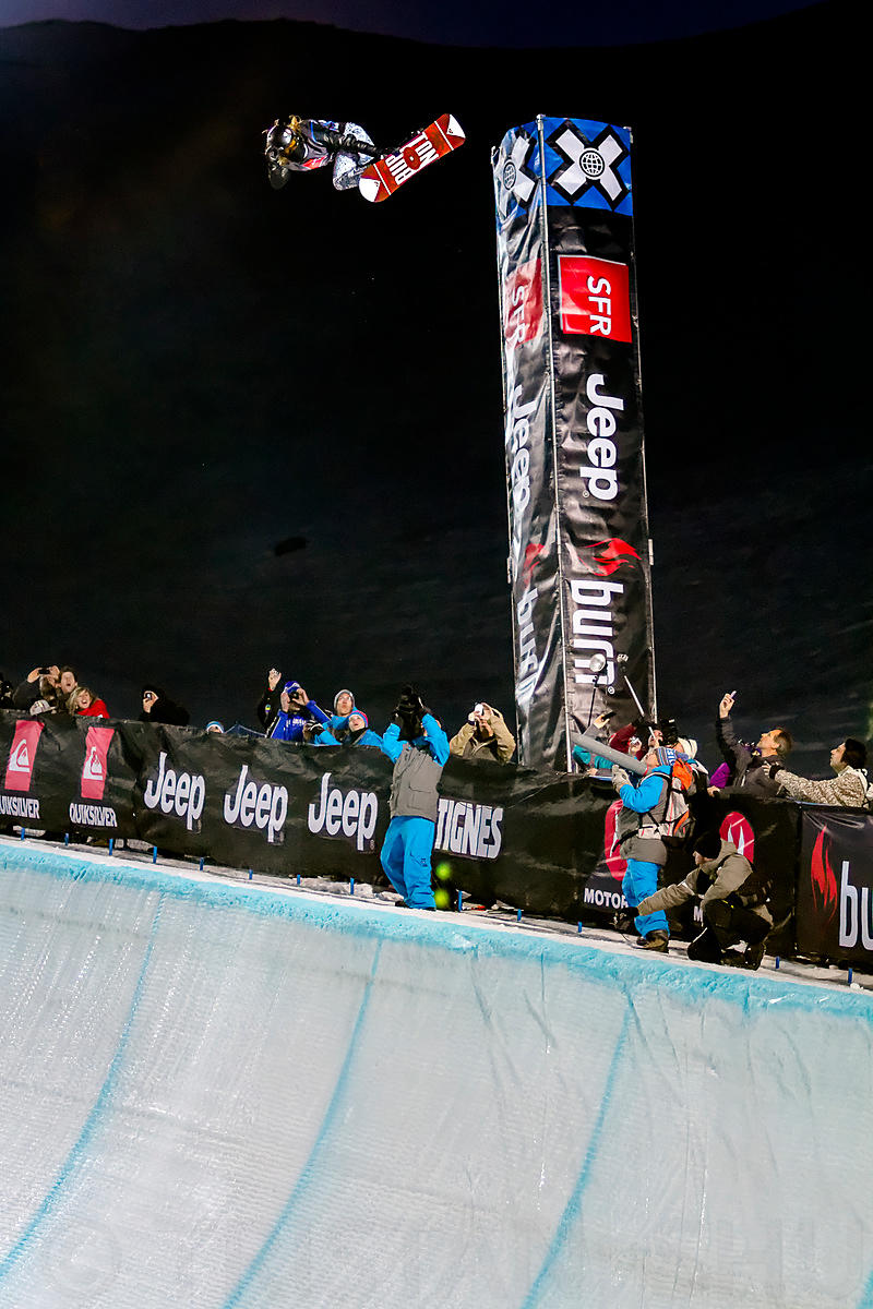 March 15th, 2012 - Tignes, France : SBD Superpipe Men's final