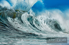 Breaking wave  - North America, USA, Hawaii, Oahu, Waialua, North Shore, Sunset Beach, Ke Iki Beach (Polynesia) - digital