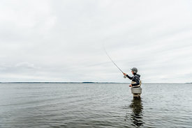Danish woman fishing 2