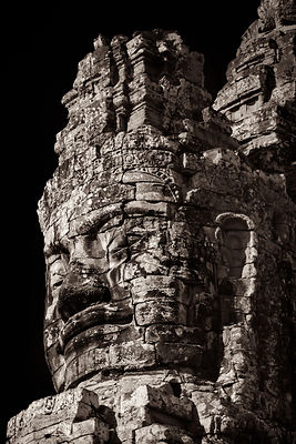 Detail of the South Gate,  Angkor Thom, Cambodia