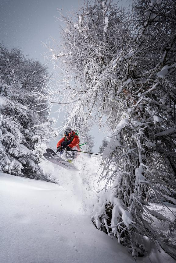 Woods skiing with Adrien Coirier
