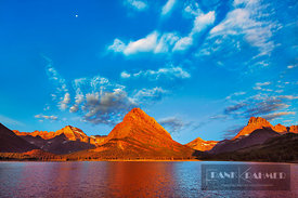 Mountain impression Swiftcurrent Lake with Mount Grinnell - North America, USA, Montana, Glacier National Park, Many Glacier,...