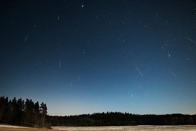 Geminid meteor shower on 13-14 December 2013.
