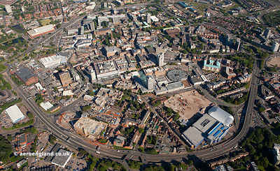 Coventry city centre aerial photograph