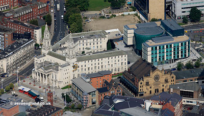 Leeds Civic Hall aerial photograph