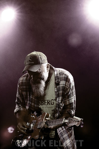 Seasick Steve performing live at the Cambridge Folk Festival 2010