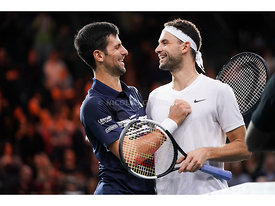 Novak Djokovic, Grigor Dimitrov, Rolex Paris Masters 2019, Simple Messieurs, 1/2 Finale, Photo : Nicolas Gouhier / FFT