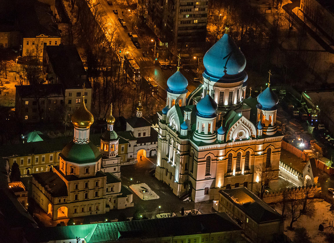 Moscow, Russia. Nikolo-Perervinsky Monastery, Cathedral of Iberian Icon of Mother of God.