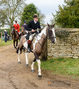 Shaun Cripps leaving the meet. The Cottesmore Hunt at Wymondham 11/1