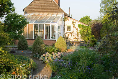 House with conservatory added. Ivy Croft, Leominster, Herefordshire, UK