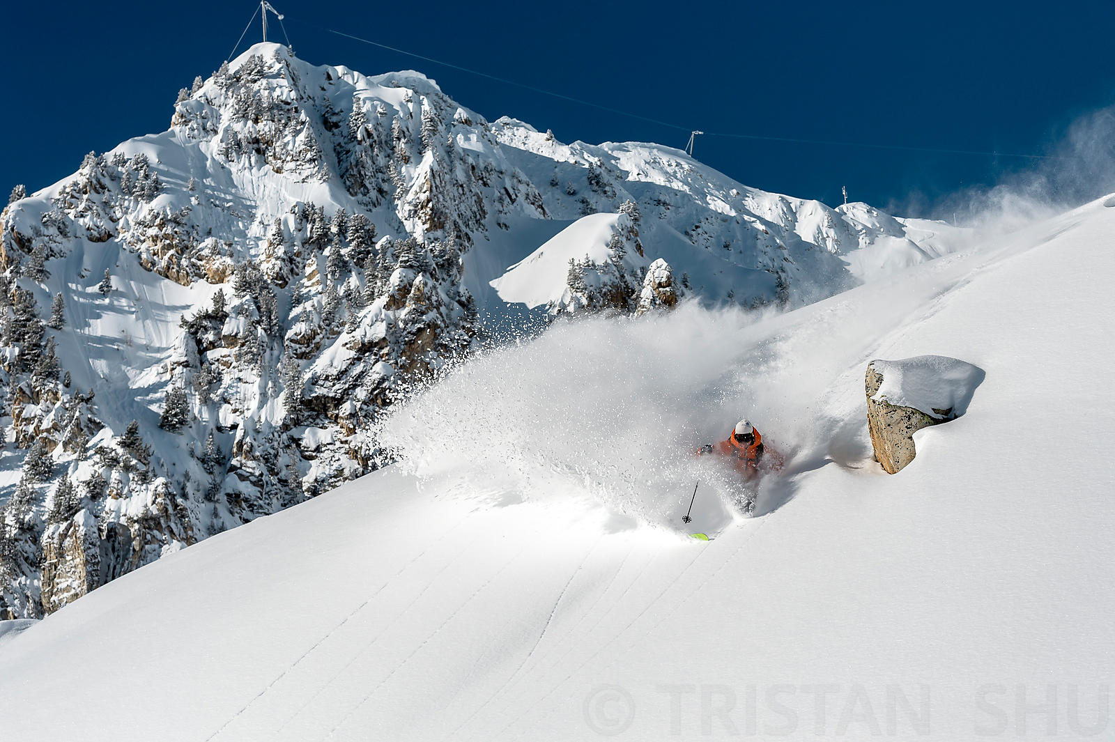 Powder turn with Romain Grojean