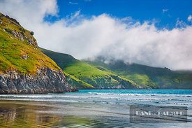 Sea fog over Le Bons Bay - Oceania, New Zealand, South Island, Canterbury, Christchurch, Banks Peninsula, Le Bons Bay (Polyne...