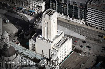 George's Dock Ventilation and Control Station, Pier Head Liverpool  from the air