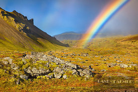 Rainbow over tundra - Europe, Iceland, Western Region, Snaefellsness, Arnarstapi - digital