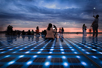 Greetings to the sun, Zadar, Croatia
