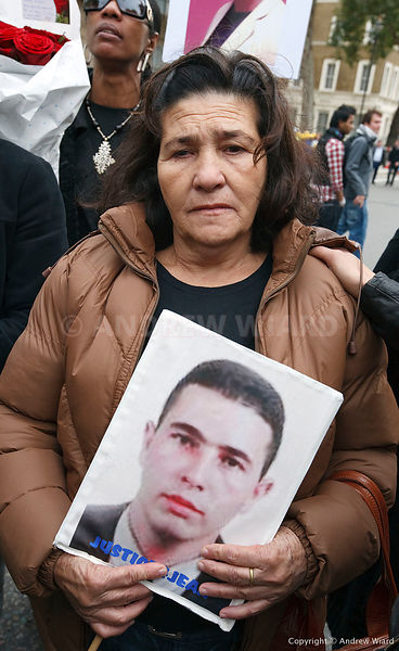 25.10. 2008. London. Maria Otone de Menezes, mother of Jean Charles de Menezes shot dead by British police, joins annual UFFC...