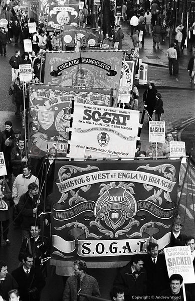 England, UK . 28.1.1989. Cheltenham . Annual GCHQ March & Rally, for the 14 Government Communications Headquarters employees ...