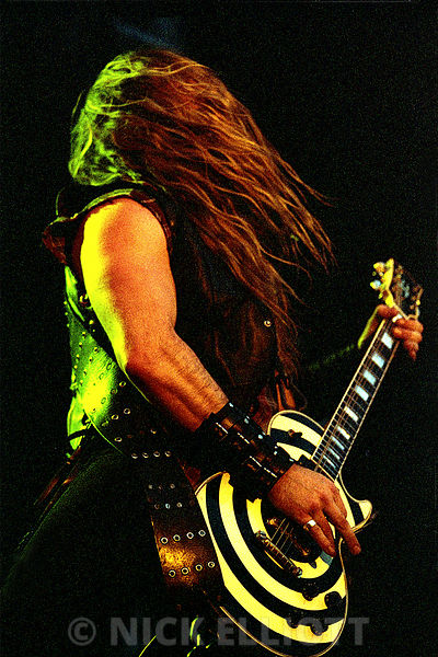 Zakk Wylde performing live with Ozzy Osbourne at Ozzfest Donnington Park May 2002