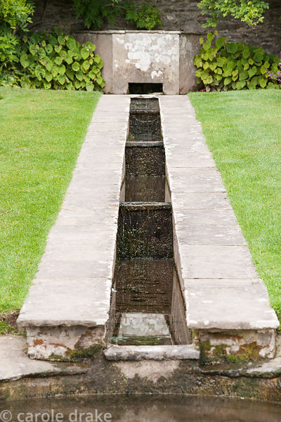 Rill in the Rill garden, designed by Oswald Milne. Coleton Fishacre, Kingswear, Devon, UK