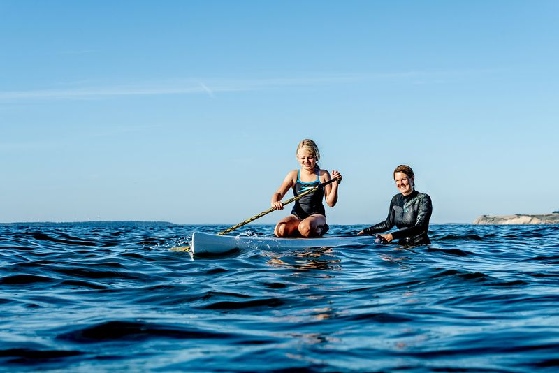 Standup paddle surfing on Mors, Denmark 7