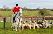 Chris Edwards at the meet - The Cottesmore Hunt at Owston 19/11