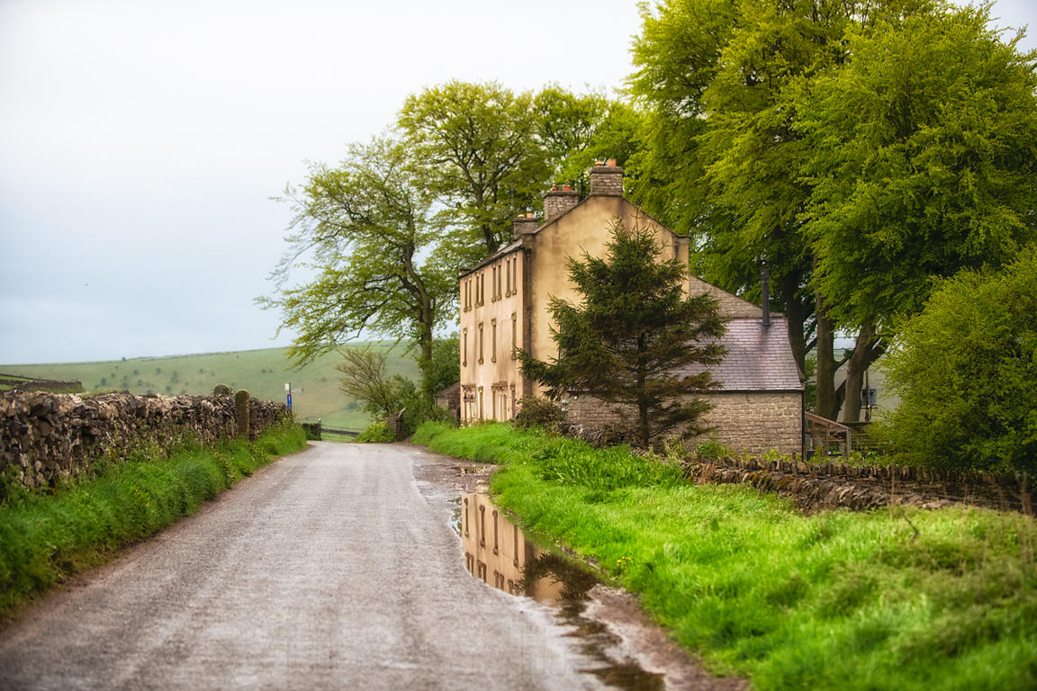 Love this view towards Litton Slack after the rains as there is always a nice puddle to reflect the house ....