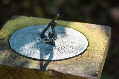 Sundial at the Old Rectory, Netherbury in January