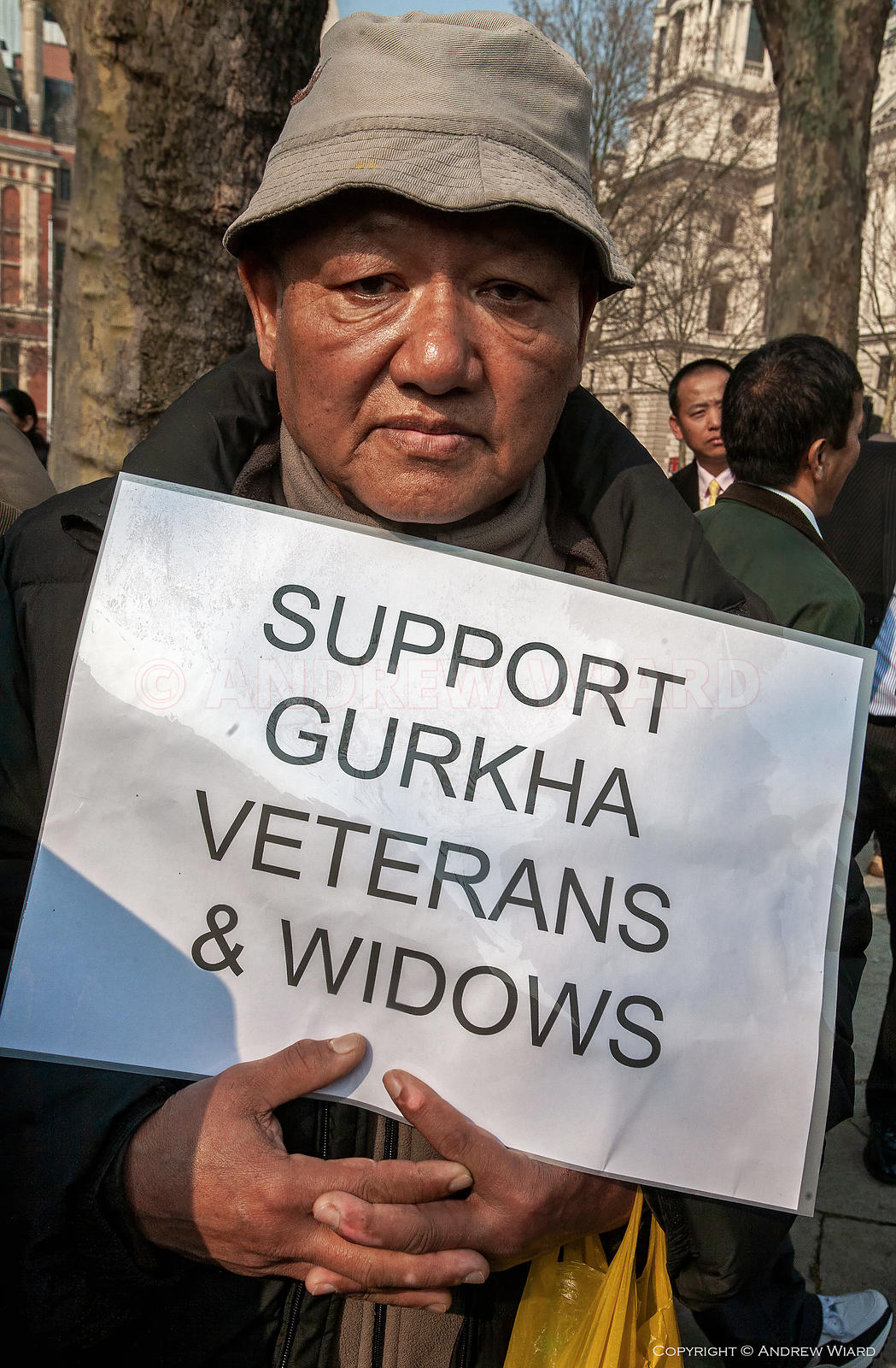 Gurkha soldiers and their families demand equal rights . A right to settlement in the UK for all Gurkhas, equal pensions for ...