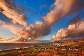 Cloud impression at sea - Europe, Ireland, Donegal, Glencolumbkille, Malin Beg - digital