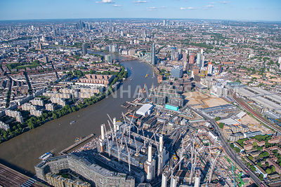 Aerial view of Battersea and Nine Elms,
