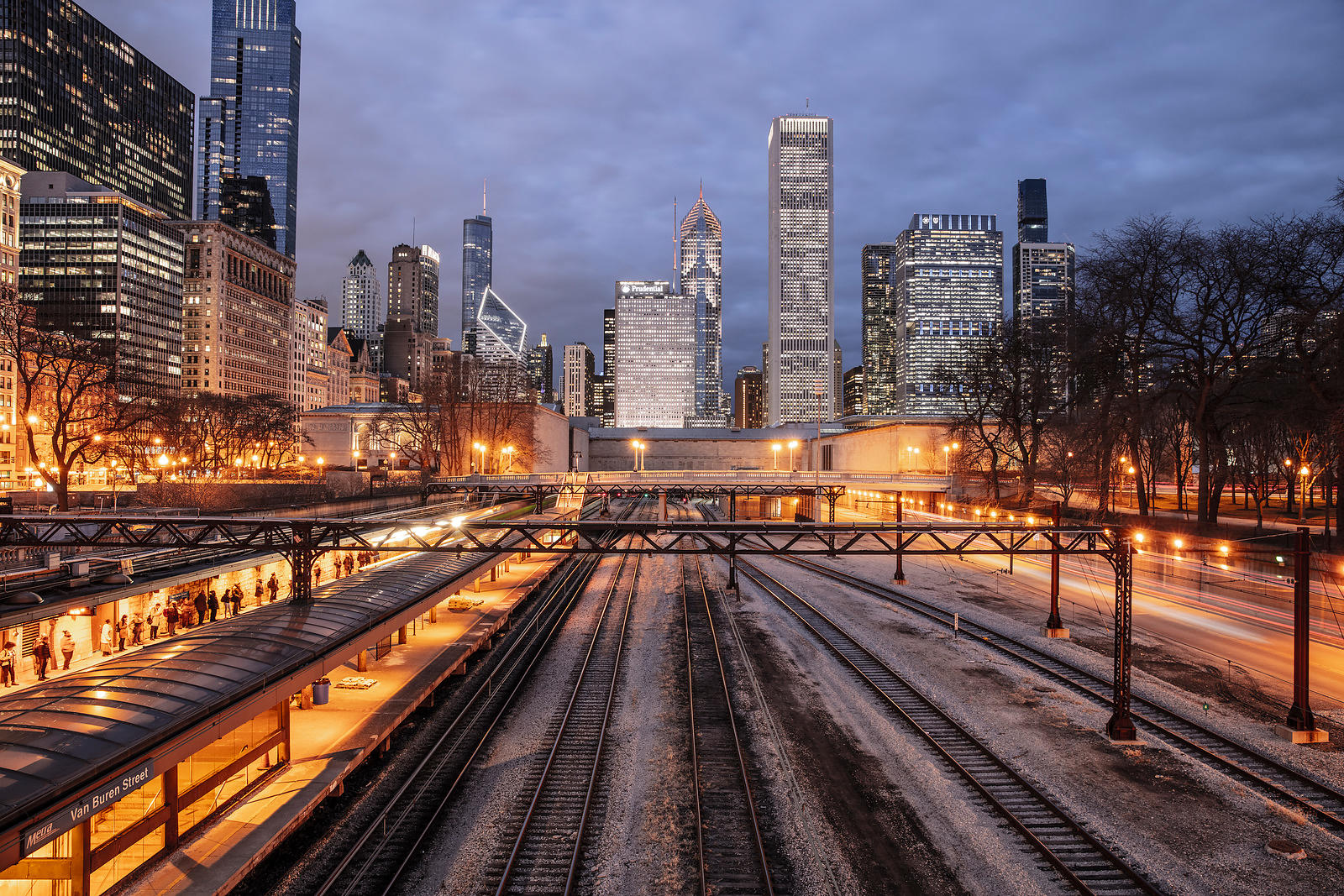 Van Buren Street: Chicago 2020  Photographer  Neil Emmerson  Edition of 25.