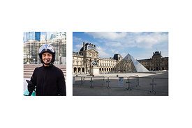 "Paris, France, March 19, 2020. Cemil, Meals on Wheels delivery man: ""I am happy to be one of the few people who still work."" ..."