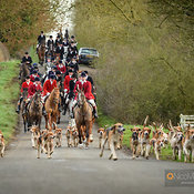 The Pytchley Hunt visit the Cottesmore at Town Park Farm 15/1