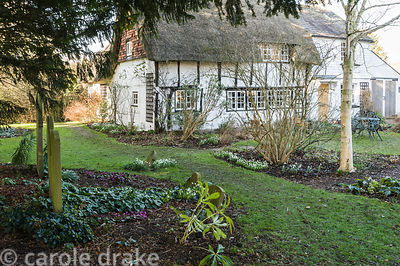 Old Church Cottage, a 400 yr old building the garden of which adjoins a disused churchyard complete with ancient yews and Nor...