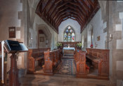 Sanctuary area of St. Lawrence, in Tubney, Oxfordshire, UK