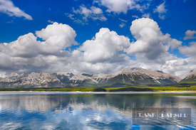 Mountain impression at Lower Kananaskis Lake - North America, Canada, Alberta, Kananaskis Country, Peter Lougheed Provincial ...
