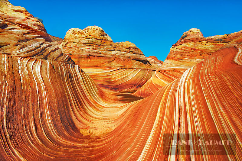 Erosion landscape The Wave in Vermillion Cliffs - North America, USA, Arizona, Coconino, Vermillion Cliffs, Coyote Buttes Nor...