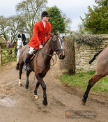 William Bell leaving the meet. The Cottesmore Hunt at Wymondham 11/1