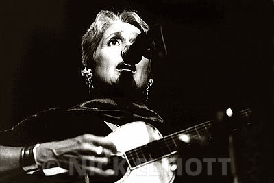 Joan Baez performing live at Cambridge 2000